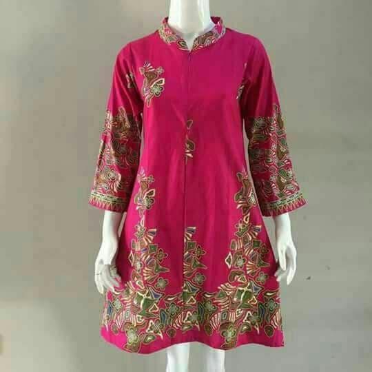 Jual Dress Tunik Batik Atasan Wanita Baju Batik Wanita Modern Atasan Batik Kab Pekalongan Batik Zamzam Tokopedia