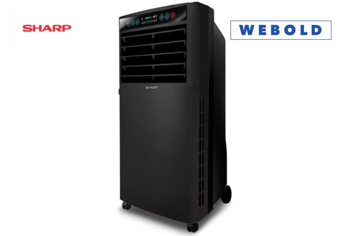 Jual Air Cooler Sharp Pj A77ty Murah Bukan Ac Portable Kipas Angin