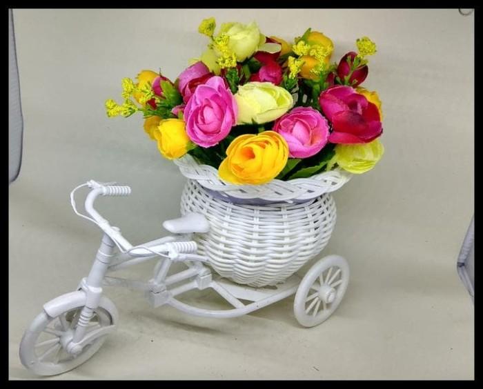 Sepeda Hias- Rose Artifisial- Bunga Plastik- Hiasan Meja - Murah - 0b77fea57f