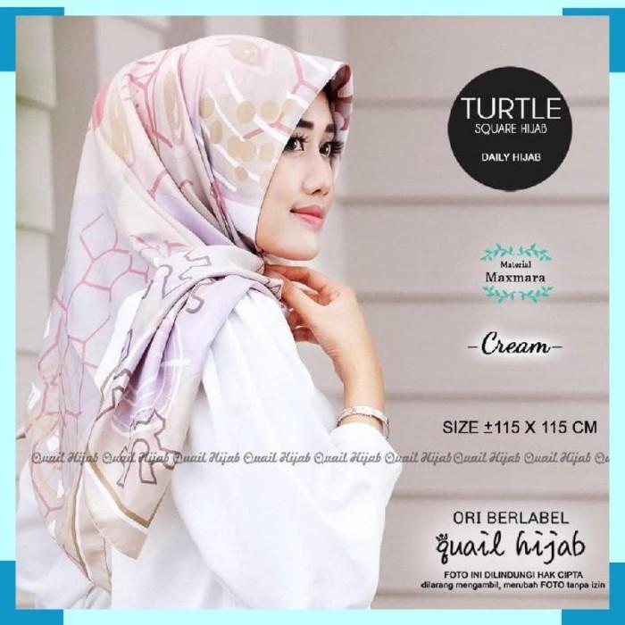 Turtle Square Jilbab Khimar Segi Empat 4 Original Hijab Maxmara Motif