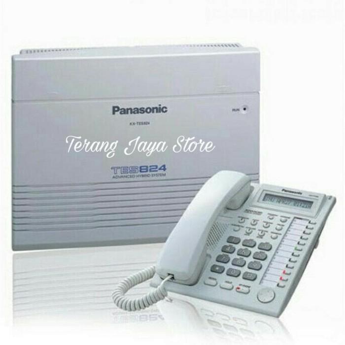 READY STOCK PABX PANASONIC KX-TES824 PLUS CABLE PHONE KX-T7730 .WHITE.