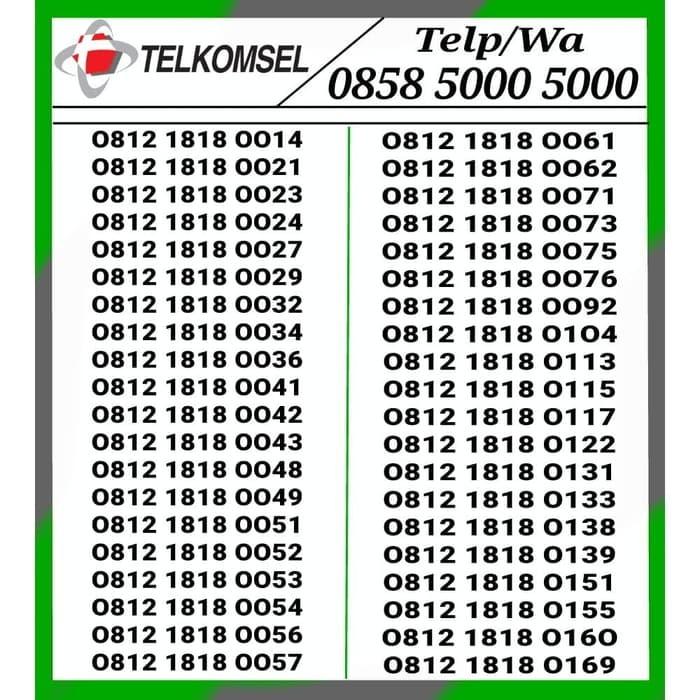 Nomor Cantik telkomsel Simpati 4G Hoki