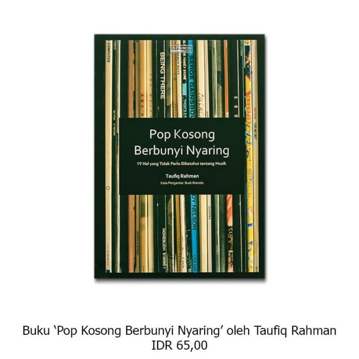 "harga Buku ""pop kosong berbunyi nyaring"" karya taufiq rahman Tokopedia.com"