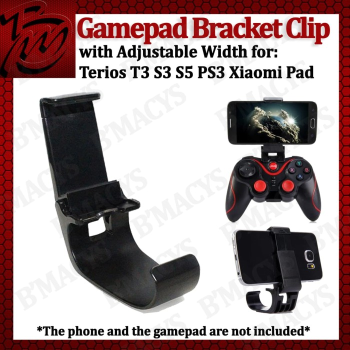 Gamepad Bracket Clip Adjustable Width for Terios T3 / Holder T3