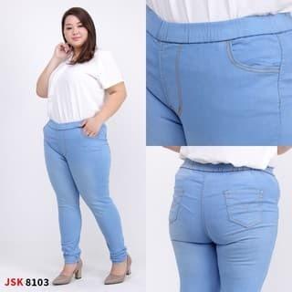 Jual Murah Celana Panjang Legging Jeans Pinggang Karet Jumbo Big Size Js Jakarta Selatan Pusat Baju Mewah Tokopedia
