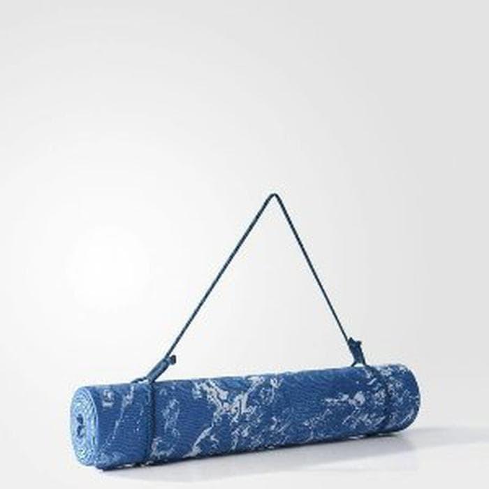 ADIDAS YOGA MAT CAMO S99698 CORE BLUE ORIGINAL ONESTOPS Berkualitas