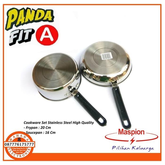 Maspion Panda Fit A Set Wajan Penggorengan 16 CM & Fry Pan 20 CM