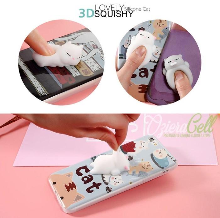 Squishy Case iPhone 7 Plus White Cat Kucing Lucu Premium Crystal