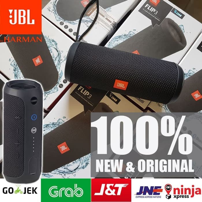 Jual Original Jbl Flip 3 Portable Bluetooth Speaker Splashproof Kota Medan Nap Computer Tokopedia