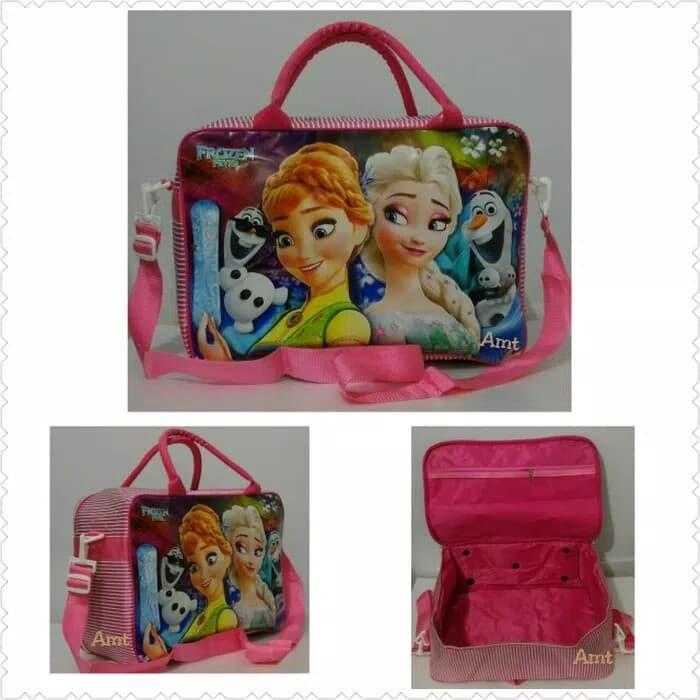 AMT tas koper anak Frozen tali selempang weekend travelling murah