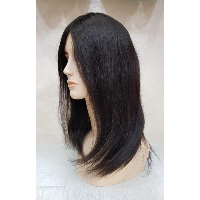 Harga Jual Rambut Palsu Wanita Wig Human Hair Black Hh1208219H Di ... 979a017a32