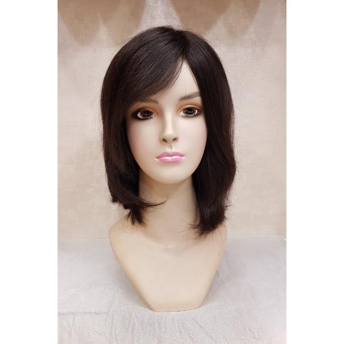 Info Harga Rambut Palsu Wanita Wig Human Hair Black 4005H Di Jakarta ... 9e08da5f72