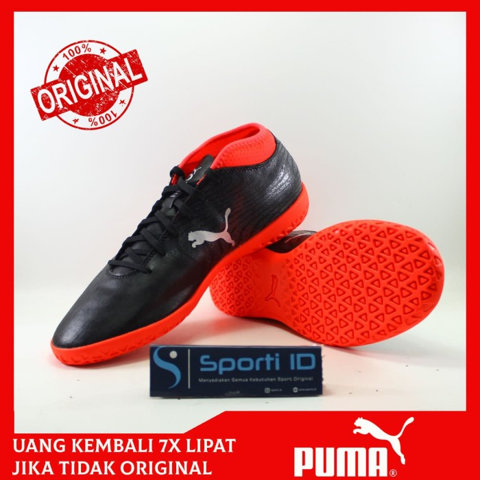 9fb17e9e3dd Jual Sepatu Futsal Puma One 18.4 IT 104558-01 Black ORIGINAL - Kab ...