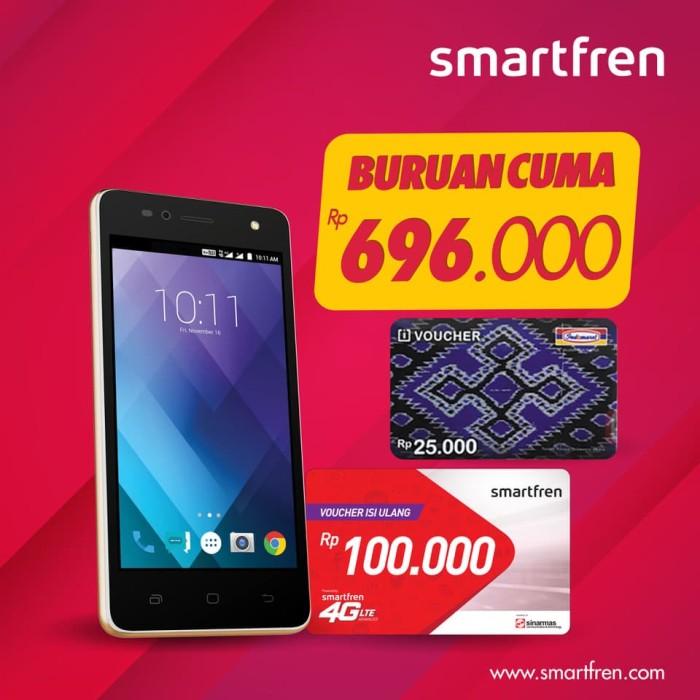 harga Paket bundling andromax a2 white gold 4g lte smartfren + voucher 100k Tokopedia.com