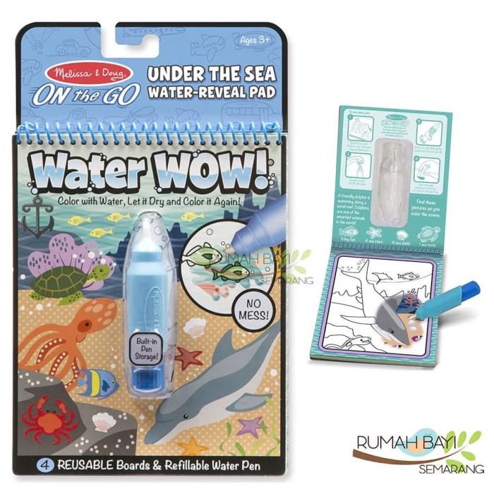 Melissa And Doug Water Wow Under The Sea Water Buku Mewarnai Anak