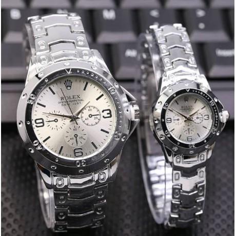 Jual PROMO TERMURAH Jam tangan couple rantai silver r o l e x pria ... 2cc636ee3c