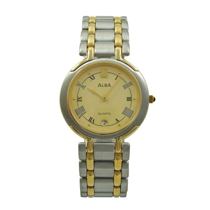 harga Jam tangan pria original alba axb14d silver gold Tokopedia.com