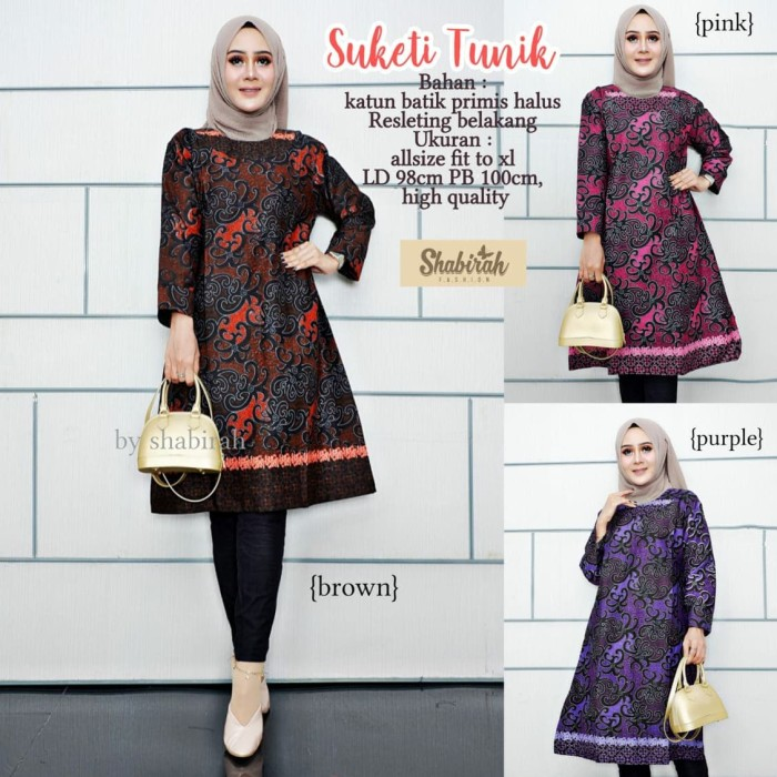 Jual Tunik Batik Suketi Seragam Pesta Baju Batik Modern Batik Wanita Kekini Kota Surakarta B Fashionos Tokopedia