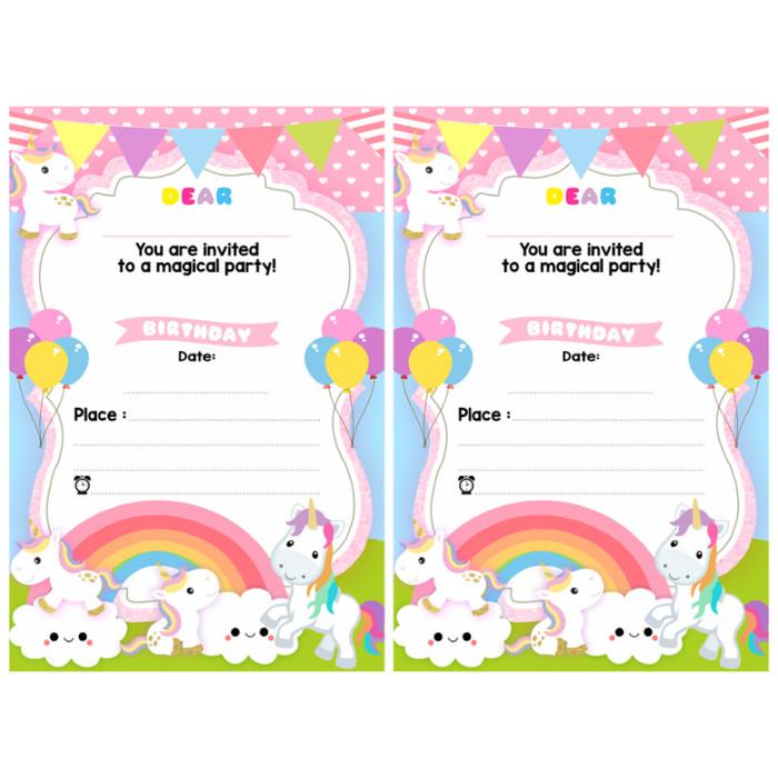 Download Kartu Undangan Ulang Tahun Anak Perempuan