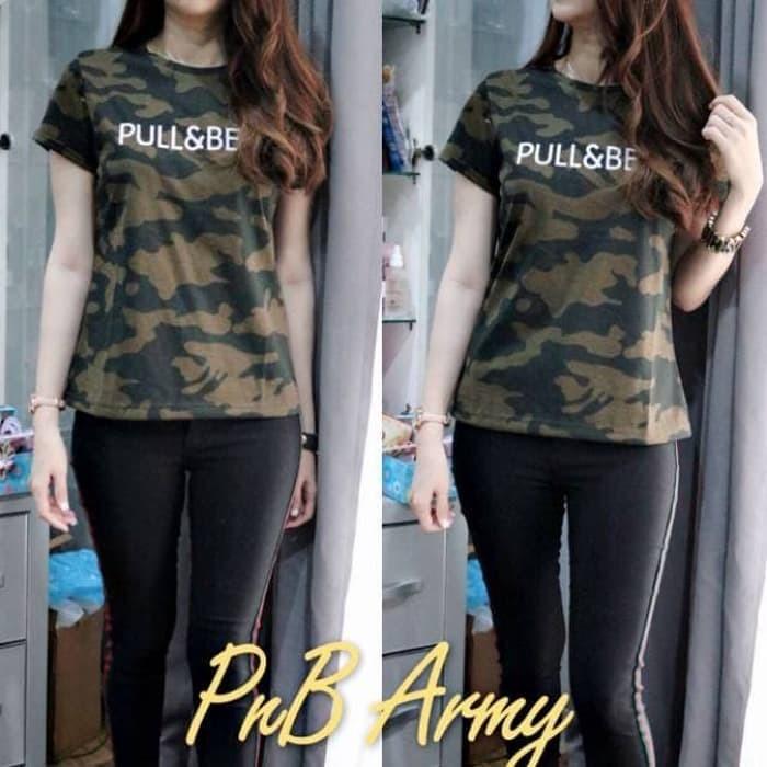 f081ccb5 Jual T'SHIRT PB army tee pull bear army cantik - Kota Tangerang ...