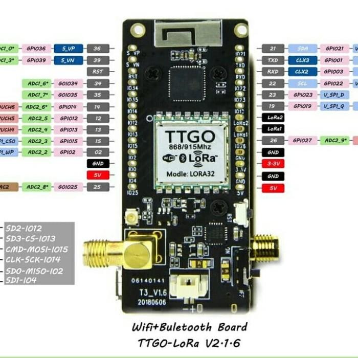 Jual TTGO LoRa32 V2 1_1 6 - 915MHz OLED 0 96 Inch SD Card Bluetooth WiFi -  Jakarta Pusat - GReS Studio | Tokopedia
