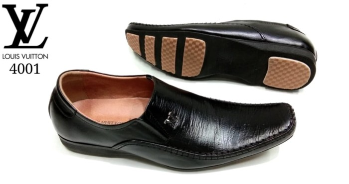 Jual Sepatu Kerja Pria Louis Vuitton 4001 - Hitam 08520755c3