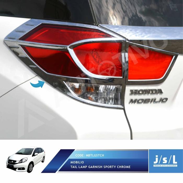 Jual Jsl Garnis Belakang Honda Mobilio Tail Lamp Garnish Sporty