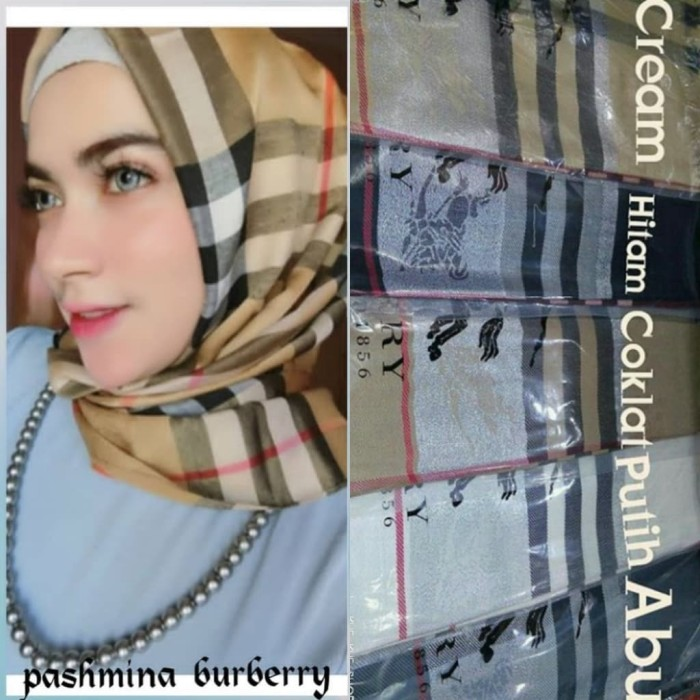 Review BURBERRY GLITTER PASHMINA SHAWL SYAL SCARF BRANDED IMPORT Di ... 0948731453