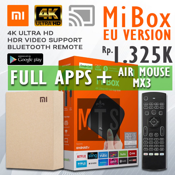 Jual Free Air Mouse Xiaomi Mi Box 3 Versi International Full Apps Jakarta Selatan Mastertech Square Tokopedia