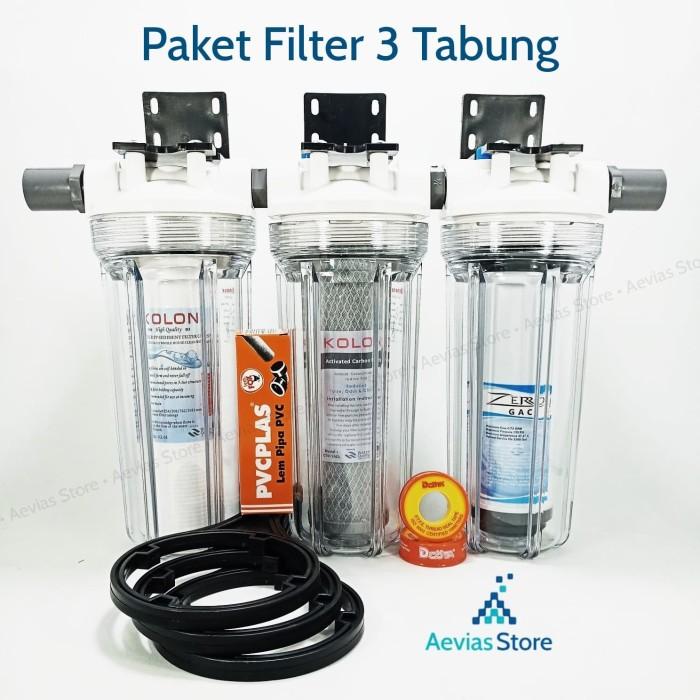 harga Filter air saringan air pdam pam sumur 3 tabung / tahap 10 . Tokopedia.com