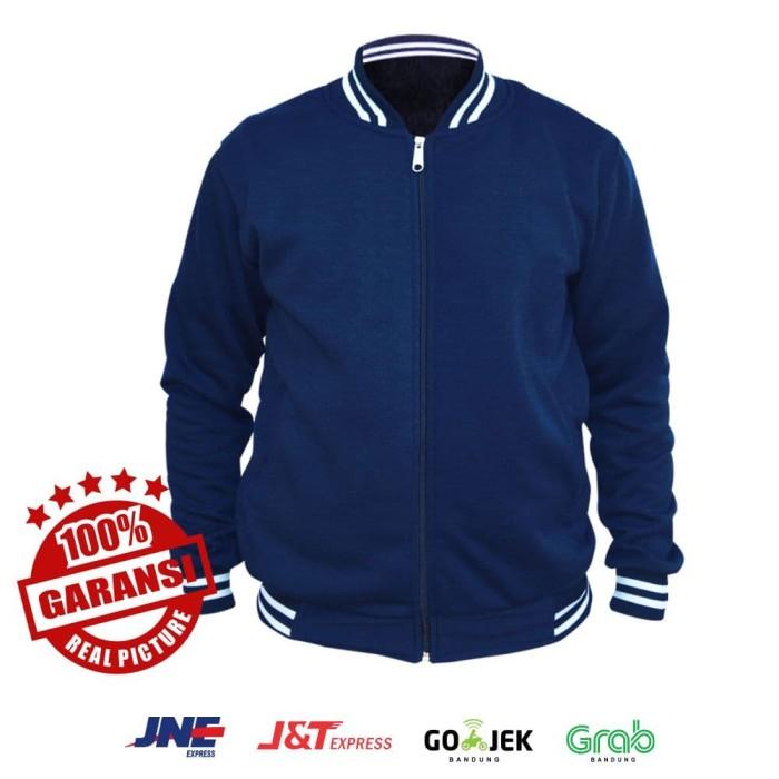 Jual Jaket Baseball Varsity Polos - Biru Navy / Dongker