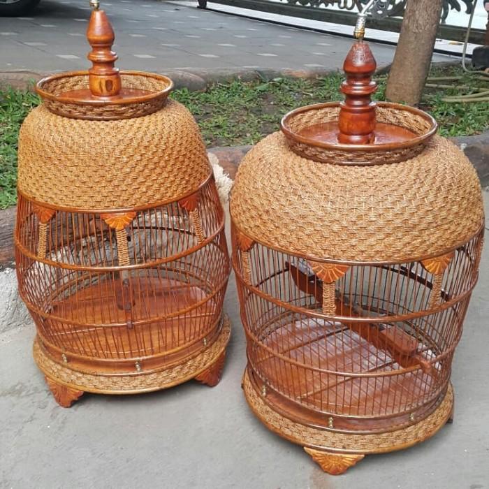 Jual Kandang Sangkar Rotan Suroboyoan Burung Perkutut Jakarta Pusat Mel179farm Tokopedia