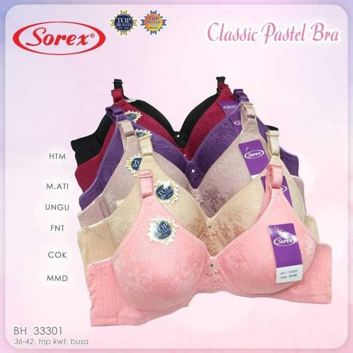 Jual Grosir BH BRA Pastel Tanpa Kawat Size 36-42 Sorex 33301 Adem & Nyaman  - DKI Jakarta - Rosiana Jaya | Tokopedia