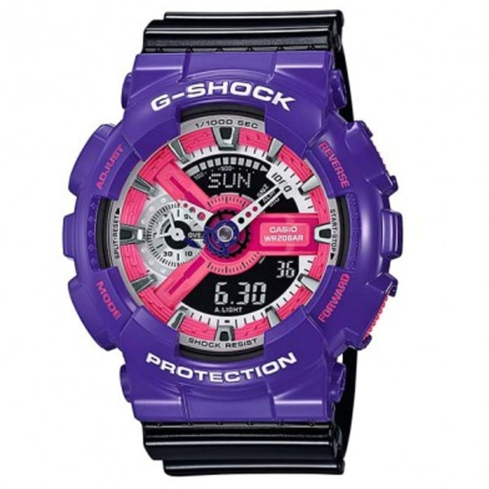 Casio G-Shock GA-110NC-6ADR - Jam Tangan Pria - Ungu/Hitam