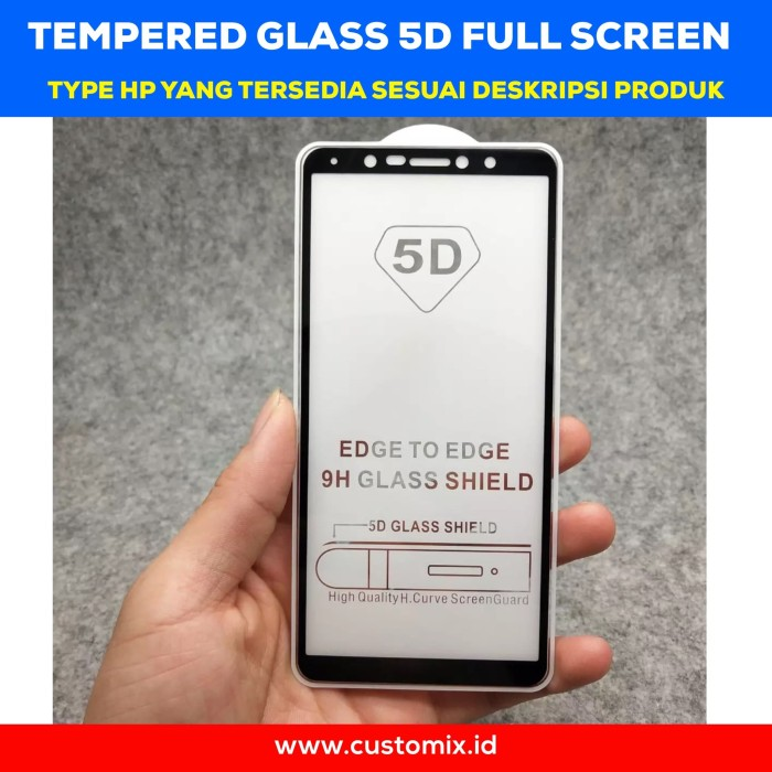 Tempered Glass 5D Full Cover Oppo A71 A83 F7 Full Glue Antigores Kaca