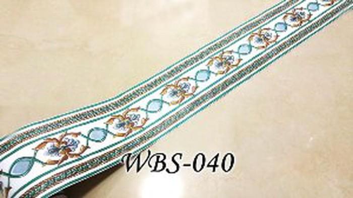 jual promo wbs040 white n great green wall border sticker murah