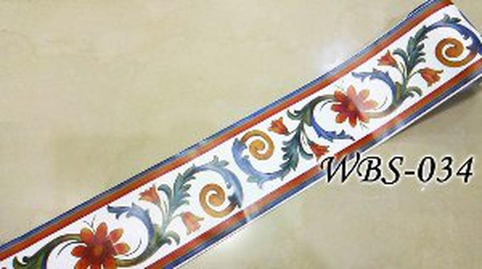 jual jual wbs034 white n color vector wall border sticker murah