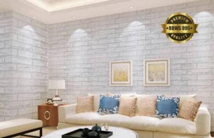 jual jual stok terbatas grosir wallpaper sticker motif bata putih