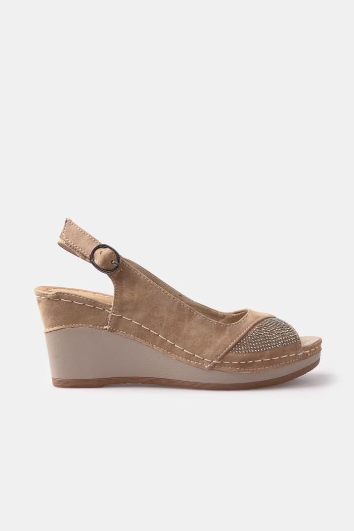 harga Fleurette | sepatu sandal wedges | 4298 camel - cokelat muda 37 Tokopedia.com