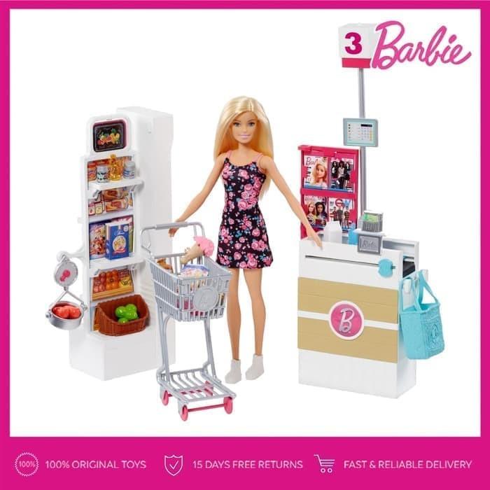 Jual Barbie Supermarket Set Boneka Permainan Toy Anak Perempuan Kota Medan Shinee Shopp Tokopedia