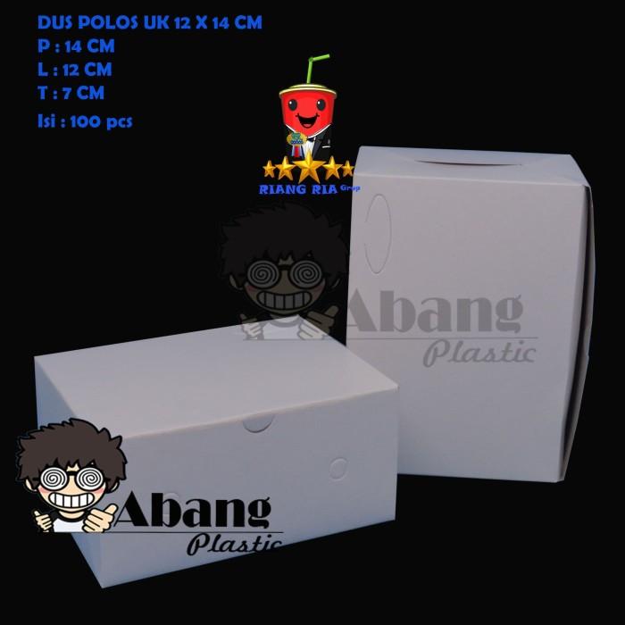 Jual Lunch Box Dus Snack Kotak Makan Pesta Putih Polos Uk 12 X