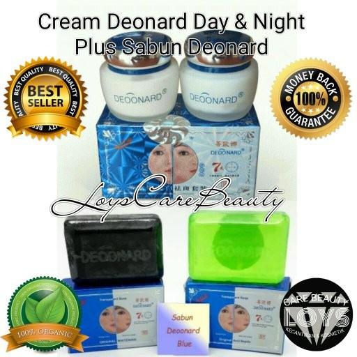 Cream Deonard - Paket Deoonard Blue 7 Days Cream Siang malam & Sabun