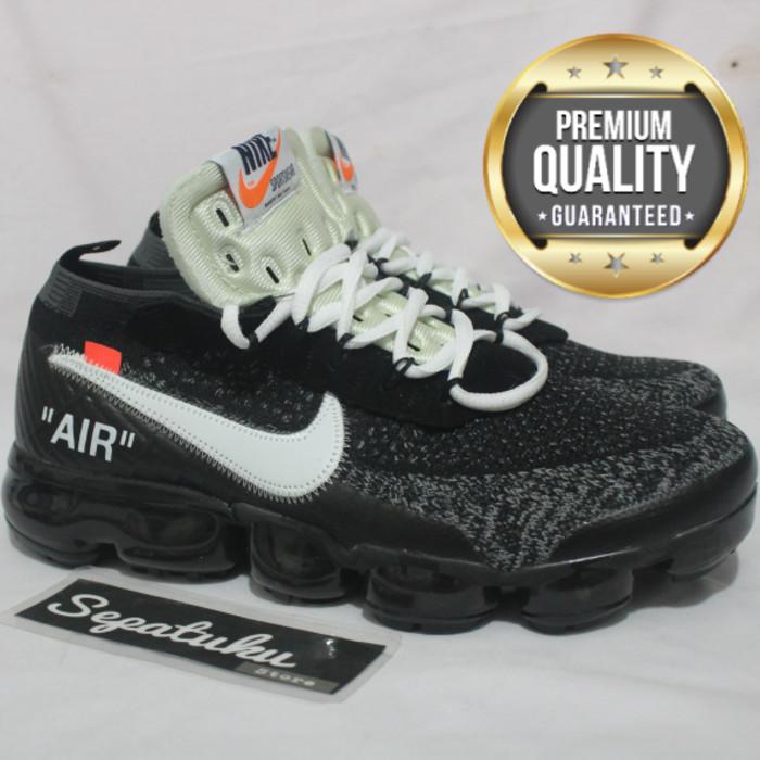 official photos 80fcd 8ec2b Jual Sepatu Nike Air Vapormax Flyknit Off White/Black White-Premium Quality  - rizmaio   Tokopedia