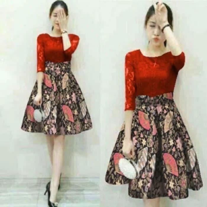 Jual Dress Batik Pendek Tokopedia Com Cek Harga Di Pricearea Com