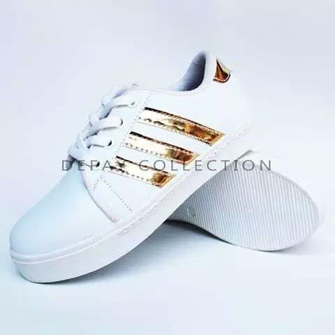 harga Sepatu kets putih anak lakilaki ads sepatu sekolah anak cowo sd kasual Tokopedia.com