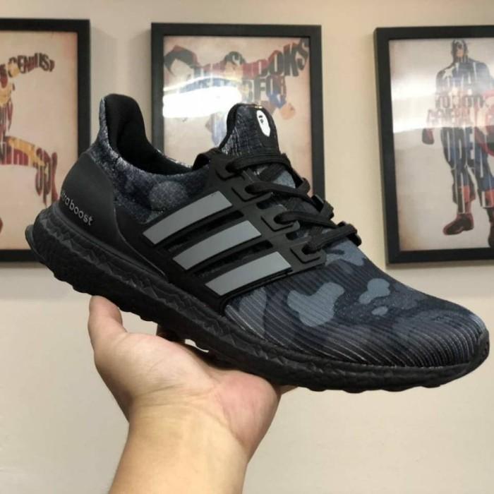hot sale online 3845c 33ac0 Jual Sepatu Adidas Ultra Boost 4.0 Bape Camo Black Premium Quality - DKI  Jakarta - Adhezta Sport   Tokopedia