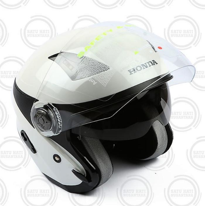 harga Honda ori helm / helmet luxury stylish helmet half face - white Tokopedia.com