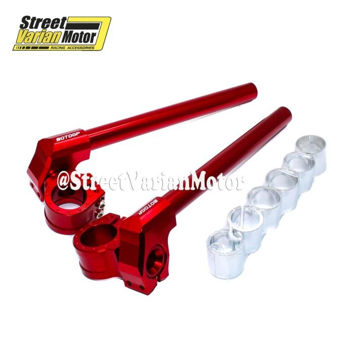 Stang Clip On Full CNC MotoGP - Merah