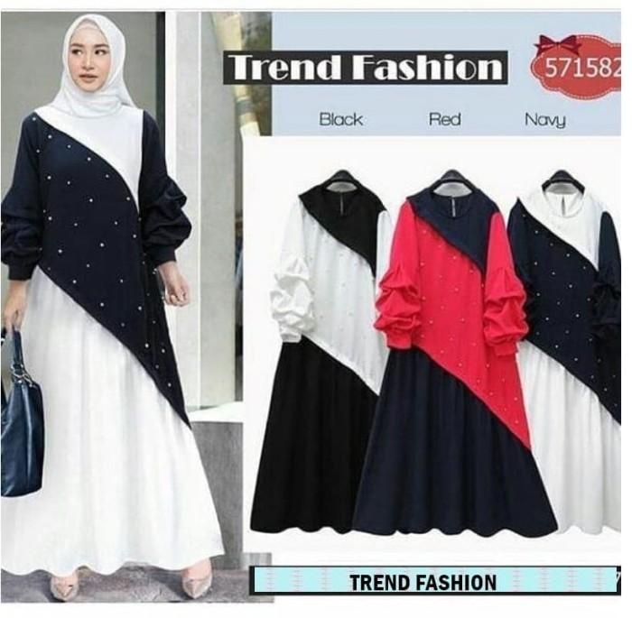 Jual Trend Fashion Dress Baju Wanita Gamis Baju Terusan Panjang Baju ... 1d867b4484