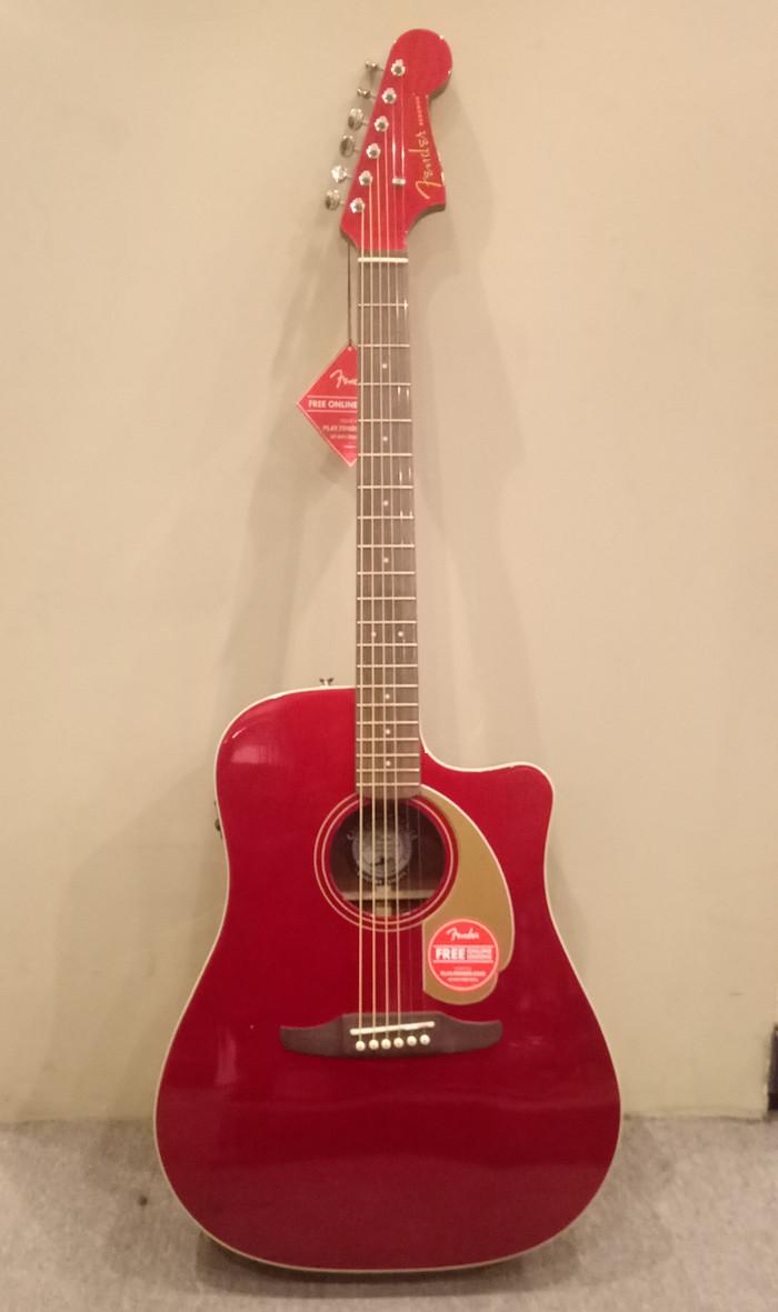 Jual Gitar Akustik Elektrik Fender Redondo Player Candy Apple Red W Bag Jakarta Selatan Nulz Music Store